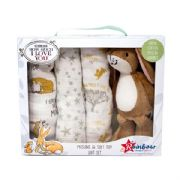 Guess How Much I Love You Soft Toy & Muslin Gift Set
